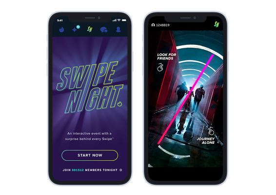"""Tinder's interactive video event, """"Swipe Night,"""" will launch in international markets this month"""